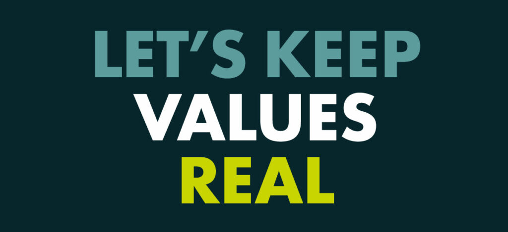 Tonic Essentials: Let's keep values real